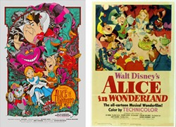 Reimagining by: Martin Ansin (L), Classic poster (R)