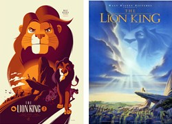 Reimagining by: Tom Whalen (L), Classic poster (R)
