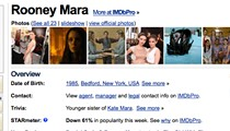 Rooney Mara is our 'Girl.' IMDB says she's way over.