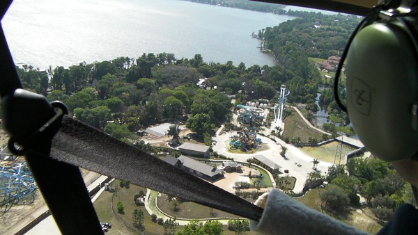Seth Kubersky on a helicopter tour of Legoland FL