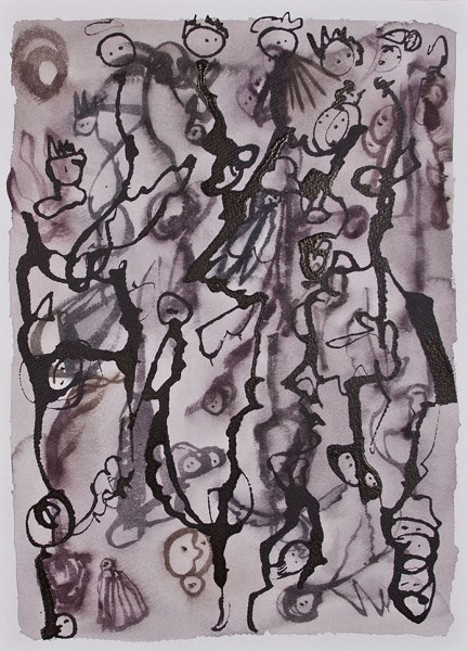Simply Elegant - One of Robert Poindexter's ink-on-paper drawings