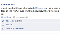 Social media reactions to the most recent arrest of George Zimmerman.