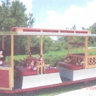 Someone in the Villages is selling this vintage Disney trolley car