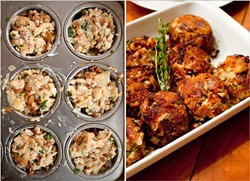 Stuffing muffins! A baby step toward smashing Thanksgiving's culinary hegemony. (Picture: New York Times)