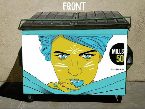 Submission from Chris Tobar Rodriguez for Mills 50's Dumpster beautification project