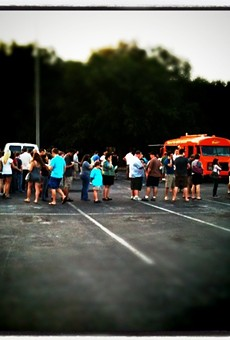 Sunday, May 1: It was a lovely night for chicken and waffles at the Daily City Food Truck Bazaar #2