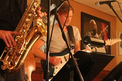 The Chris Charles Quartet and friends at the Smiling Bison (photo by Ashley Belanger)