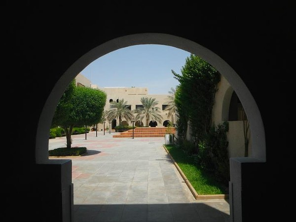 The courtyard of Atassi's school in Riyadh.
