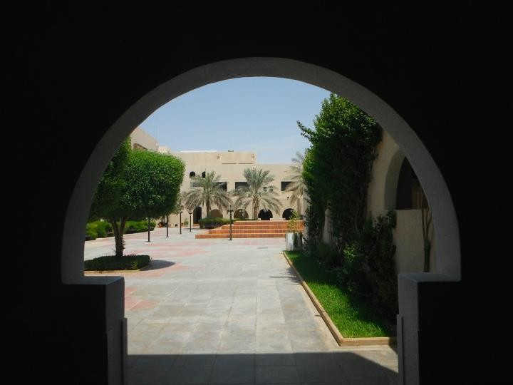 The courtyard of Atassi's school in Riyadh.