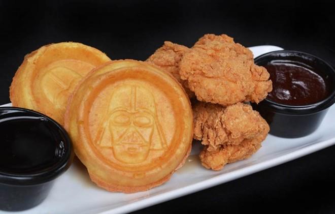 The Dark Fried chicken and waffles - VIA WALT DISNEY WORLD