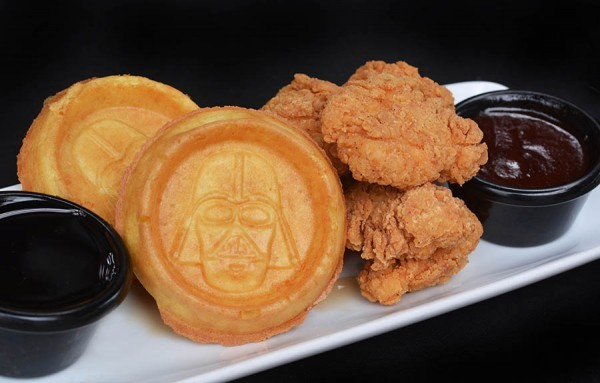 The Dark Fried chicken and waffles - VIA WALT DISNEY WORLD