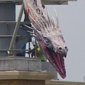 Diagon Alley Dragon installed at Universal Orlando