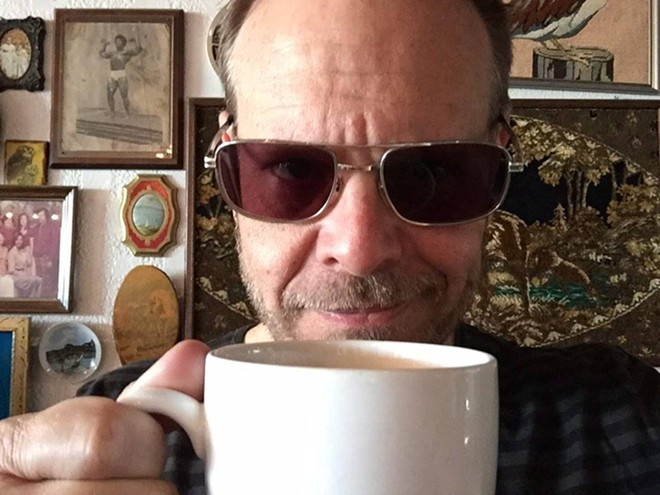 The Good Eats guy enjoys a Credo cortadito - VIA ALTON BROWN ON FACEBOOK