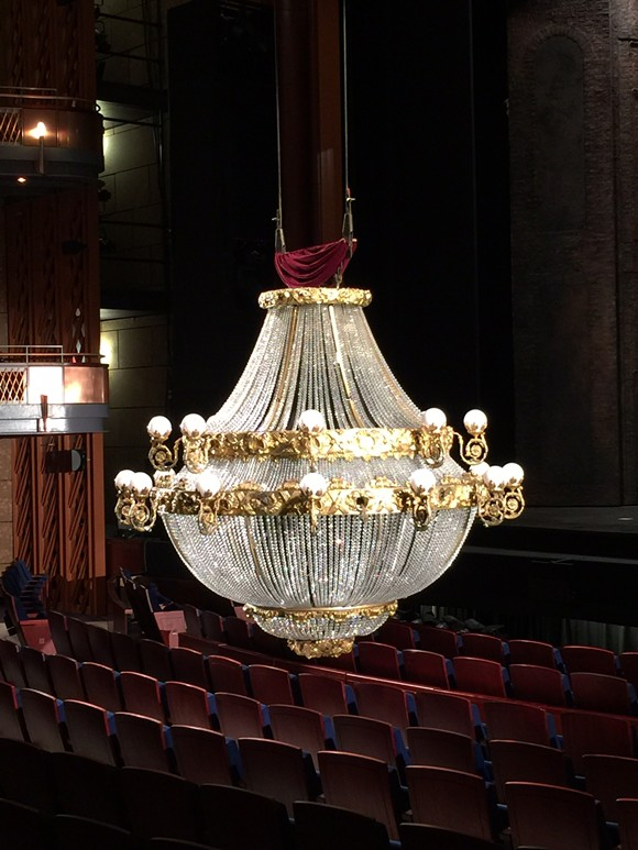 The Phantom of the Opera has returned to Orlando with a brand new chandelier (photos by Seth Kubersky).