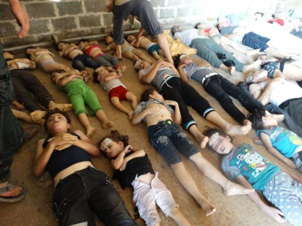 These children were some of the victims of the chemical weapons attack in Syria.