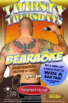 AD BY AVID MARKETING US - Thirsty Thursday Bearaoke at the Bear Den