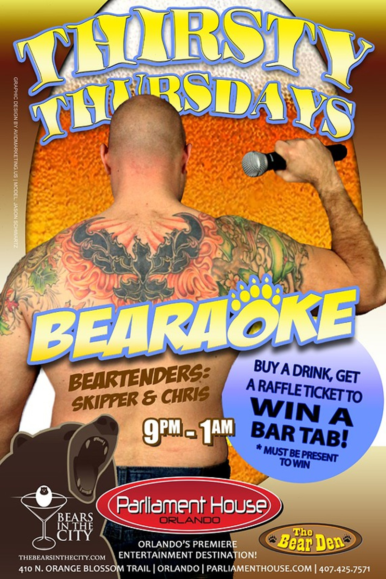 Bears In The City Presents Thirsty Thursday Bearaoke