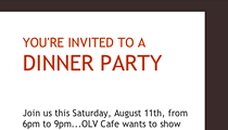 TOMORROW: Customer Appreciation Night at OLV Cafe
