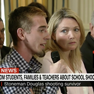 Parkland shooting survivor confronts Donald Trump on gun violence in schools
