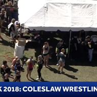 WESH sent a helicopter to cover coleslaw wrestling at Daytona's Bike Week