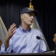 Rick Scott is swinging through Orlando this afternoon