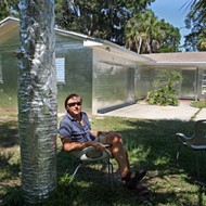 People are pissed at this Florida artist for wrapping his house in tin foil