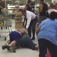 There was a fist fight in the Baldwin Park Publix last night