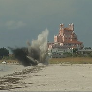 An old-timey WWII bomb was found and safely detonated on a St. Petersburg beach Sunday