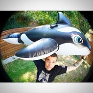 Steve-O protested SeaWorld last night by climbing a crane and getting arrested