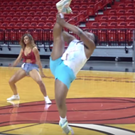 Florida man slays routine at Miami Heat dancer tryouts