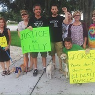 Winter Park residents protest in front of dog shooter's home