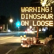 Some local prankster keeps hacking the road sign on Bumby Avenue