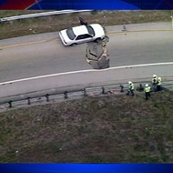 Sinkhole takes on car at I-4 and Maitland Boulevard
