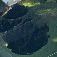 A giant sinkhole is about to devour a duplex in Hillsborough County