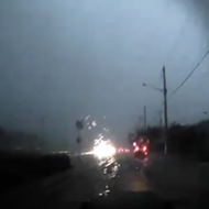 Watch this Florida driver complain about traffic while unknowingly driving into a tornado