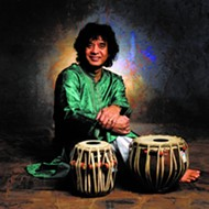 Master of modern percussion Zakir Hussain dazzles on the tablas at the Bob Carr