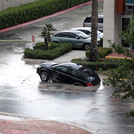Watch out for this giant puddle that nearly swallowed an SUV in downtown Orlando