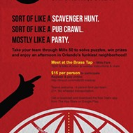 Go on a boozy scavenger hunt throughout Mills 50 for their Madcap party