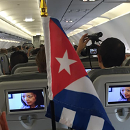 First commercial flight from Florida to Cuba took off today