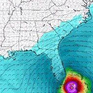 One model now predicts Hurricane Matthew could hit Florida coming and going