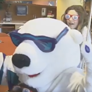Solar Bears help children at Florida Hospital ace the Mannequin Challenge