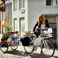 IKEA's new bike and trailer just made farmers market shopping so much better