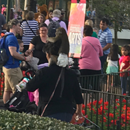 Who brought this diaper-wearing monkey into Epcot last weekend?