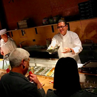 "Let Iron Chef Morimoto personally serve you sushi at the ""Momakase"" dinner this February"