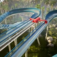 This new roller-coaster-launched water slide looks absolutely terrifying