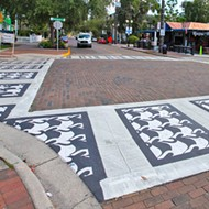 Orlando's new crosswalk art will have you seeing swans in Thornton Park