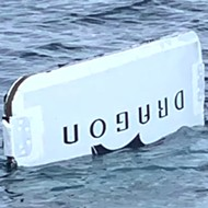 Fisherman catches door of SpaceX capsule off Daytona Beach