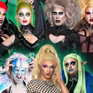 Orlando horror-drag family Black Haüs resumes their weekly Creature Feature night online