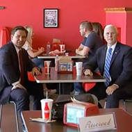 Pence and DeSantis pay unmasked visit to Beth's Burger Bar in Orlando