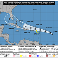 Tropical Depression 13 continues to develop in the Atlantic with Florida in forecasted path